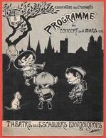 Rare Programme 21 DIJON Concert Mars 1908 Association Des Etudiants * Humour Potache Théâtre - Programmi