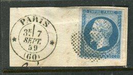 Rare N° 14A Cachet Cercle De Points Type 3303 - 1853-1860 Napoléon III