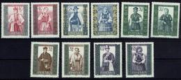 Polen 1960 - Trachten - MiNr 1156-1165 - Kostüme