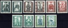 Polen 1959 - Trachten - MiNr 1138-1147 - Kostüme