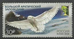Russia 2018 MNH ( ZE4 RSS2538 ) - Owls