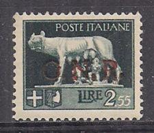 R.S.I. 1944  SERIE IMPERIALE SOPRASTAMPATO G.N.R. SASS. 483 MNH VF SOPRASTAMPA DA VERIFICARE - 4. 1944-45 Repubblica Sociale