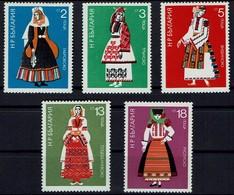 Bulgarien Bulgaria 1975 - Trachten - MiNr 2400-2405 - Kostüme