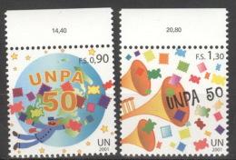 UNO Genf 424/25 Oberrand ** Postfrisch - Genf - Büro Der Vereinten Nationen