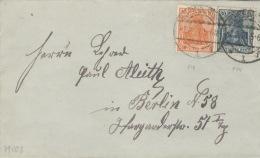 Deutsches Reich 141,144II Auf Brief - Deutschland