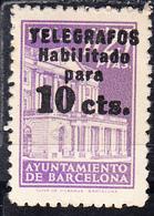 ESPAÑA.AYTº BARCELONA  1930. .EDIFIL Nº Telegrafo NE 10 CTS SOBRE 11,25 Pts. SOBRE .NUEVO  SIN   CHARNELA.CECI 2 Nº 131 - Barcelona