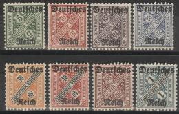 Deutsches Reich Dienst 57/64 ** Postfrisch - Dienstpost