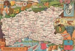 "/ CPSM FRANCE 14 ""Calvados"" / CARTE  GEOGRAPHIQUE - France"