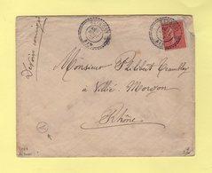 Beynost - Ain - 17-8-1907 - Facteur Boitier 7 - Boite Rurale A - Sans Correspondance - Marcophilie (Lettres)