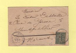 Boujan - Herault - 15 Avril 1905 - Facteur Boitier 1093 - Marcofilie (Brieven)