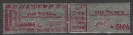 DDR SbPÄ-Einschreibemarkenpaar 9166 Thalheim A ** Postfrisch - Ungebraucht