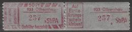 DDR SbPÄ-Einschreibemarkenpaar 933 Olbernhau S ** Postfrisch - Ungebraucht