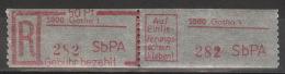 DDR SbPÄ-Einschreibemarkenpaar 5800 Gotha 1 ** Postfrisch - DDR