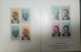 L) 1949 SENEGAL, MAHATMA GHANDI, JOHN KENNEDY, MARTIN LUTHER KING, ROBERT KENNEDY, PRESIDENT LAMINE GUEYE, IN TRIBUTE TO - Senegal (1960-...)