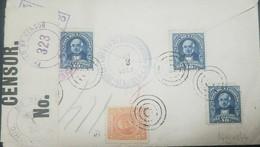 L) 1913 COSTA RICA, BRAULIO CARRILLO, 10C, BLUE, MAURO FERNANDEZ, ORANGE, 5C, CENSOR 323, XF - Costa Rica