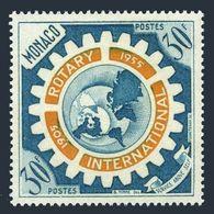 Monaco 353,MNH.Michel 526. Rotary International,1955.Map,Emblem. - Rotary, Lions Club