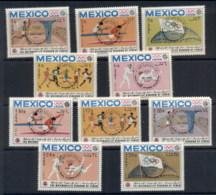 Yemen Kingdom 1968 Mi#604-613 Summer Olympics Mexico City Opt Medallists MUH - Yemen