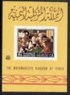 Yemen Kingdom 1968 Mi#MS121B Paintings By American & European Masters MS MUH - Yemen