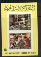 Yemen Kingdom 1968 Mi#MS123B Paintings By American & European Masters MS MUH - Yemen