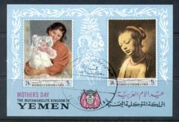 Yemen Kingdom 1968 Mi#MS72b Mothers Day Paintings, Women's Portratis MS CTO - Yemen