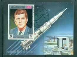 Yemen Kingdom 1969 Famous Men Of History, Kennedy IMPERF MS CTO - Yemen