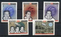 Yemen Kingdom 1969 Mi#652-656 Apollo 8 First Lunar Mission MUH - Yemen