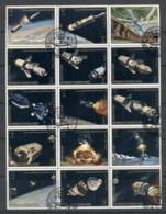 Yemen Kingdom 1969 Mi#726-740 Apollo Programme, Exploration Of The Moon Blk15 CTO - Yemen