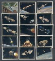 Yemen Kingdom 1969 Mi#726-740 Apollo Programme, Exploration Of The Moon MUH - Yemen