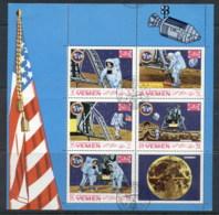 Yemen Kingdom 1969 Mi#786-790 Apollo 11 Moon Landing Sheetlet CTO - Yemen