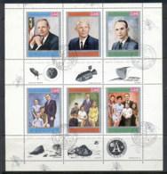 Yemen Kingdom 1969 Mi#A809-F809 Apollo 11 Astronauts & Their Families Sheetlet CTO - Yemen
