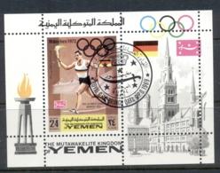 Yemen Kingdom 1969 Mi#MS157a Summer Olympics Munich MS CTO - Yemen