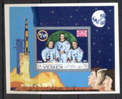 Yemen Kingdom 1969 Mi#MS160B Apollo 11 First Manned Moon Landing MS IMPERF MUH - Yemen