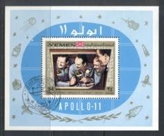 Yemen Kingdom 1969 Mi#MS167a Apollo 11 Moon Landing MS CTO - Yemen