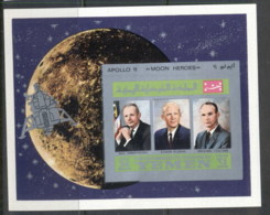 Yemen Kingdom 1969 Mi#MS167B Apollo 11 Astronauts & Their Families MS IMPERF MUH - Yemen