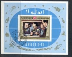 Yemen Kingdom 1969 Mi#MS167b Apollo 11 Moon Landing MS IMPERF CTO - Yemen