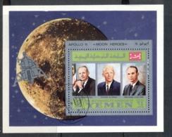 Yemen Kingdom 1969 Mi#MSA167a Apollo 11 Astronauts & Their Families MS CTO - Yemen