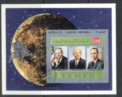 Yemen Kingdom 1969 Mi#MSA167b Apollo 11 Astronauts & Their Families MS IMPERF CTO - Yemen