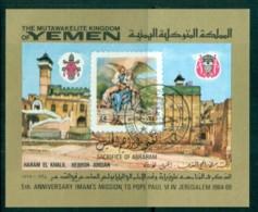 Yemen Kingdom 1969 Pope Paul VI MS CTO - Yemen