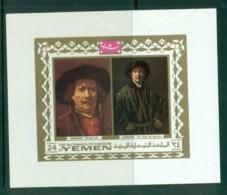 Yemen Kingdom 1969 Rembrandt, Paintings MS MUH - Yemen