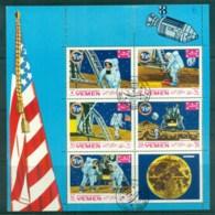 Yemen Kingdom 1969 Space Mission Moonlanding (folded) MS CTO - Yemen