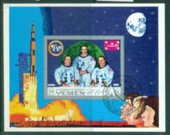 Yemen Kingdom 1970 Apollo 11 Space Mission IMPERF MS CTO - Yemen