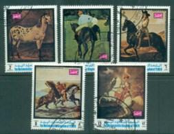 Yemen Kingdom 1970 Horse Paintings CTO - Yemen