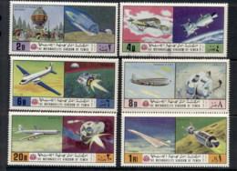 Yemen Kingdom 1970 Mi#1167-1172 Aeronautics MUH - Yemen
