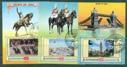 Yemen Kingdom 1970 Philympia London Views 3x MS CTO - Yemen