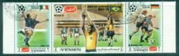 Yemen Kingdom 1970 Soccer World Cup Mexico Str 3 CTO - Yemen