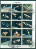 Yemen Kingdom 1972 SpaceMission To The Moon  Blk 15 CTO - Yemen