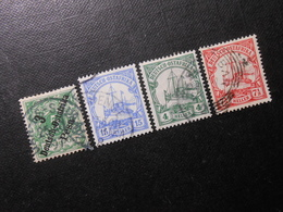 D.R.7/25b/31/32a - Deutsche Kolonien (Deutsch-Ostafrika) 1896/1905 - Mi 15,80 € - Colony: German East Africa