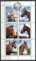 Sharjah 1972 Mi#1276-1281 Horses Sheetlet CTO - Sharjah