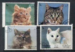 Sharjah 1972 Mi#1288-1291 Cats CTO - Sharjah