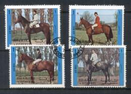 Sharjah 1972 Mi#1296-1299 Horses & Riders CTO - Sharjah